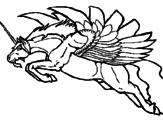 Desenho Unicórnio alado pintado por leide