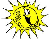 Desenho Sol pintado por sol