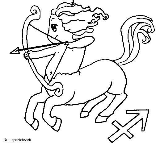Desenho Sagittarius pintado por sagitario