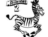 Desenho Madagascar 2 Marty pintado por burro