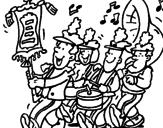 Desenho Banda de música pintado por lol