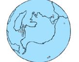 Desenho Planeta terra pintado por andre alegre