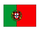 Desenho Portugal pintado por bandeira de PORTUGAL