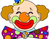 Desenho Palhaço com um grande sorriso pintado por palhaco