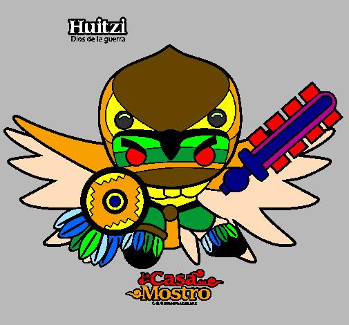 Desenho Huitzi pintado por Simbolo dos indigenas