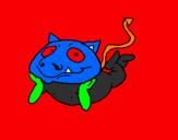 Desenho Pequeno demónio pintado por ogait
