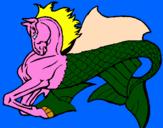 Desenho Cavalo fantástico pintado por pony sereia