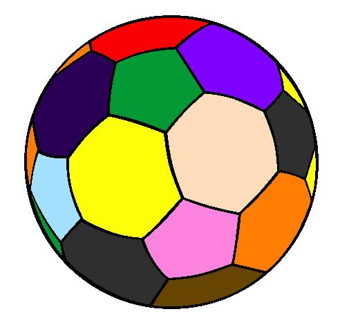 desenho de bola de futebol ii pintado e colorido por usuário não