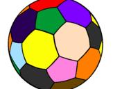 Desenho Bola de futebol II pintado por bola   colorida