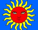 Desenho Sol pintado por O Sol vermelho