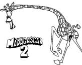Desenho Madagascar 2 Melman 2 pintado por pamela