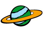 Desenho Saturno II pintado por planeta
