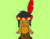 Desenho Pequeno índio pintado por fabio