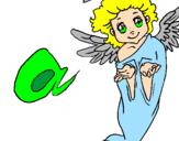 Desenho Anjo pintado por anjo