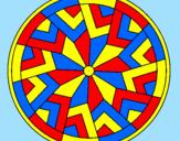 Desenho Mandala 24 pintado por seus coloridos