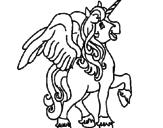 Desenho Unicórnio com asas pintado por unicornio