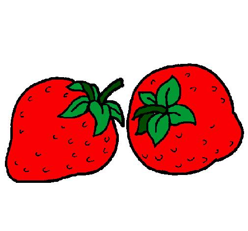 desenho de morangos pintado e colorido por usuário não registrado o