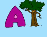 Desenho Árvore pintado por rafaela  pereira