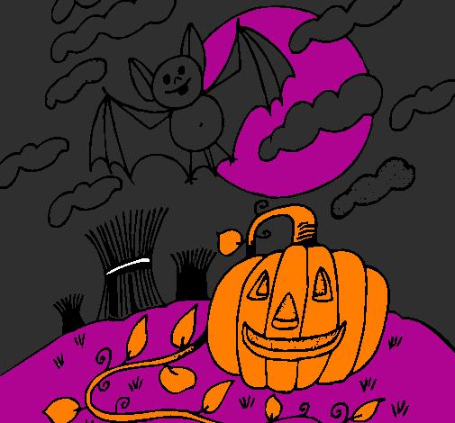 Paisagem Halloween