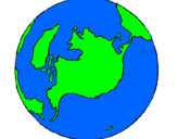 Desenho Planeta terra pintado por planeta terra