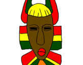 Desenho Máscara africana pintado por mascara africana