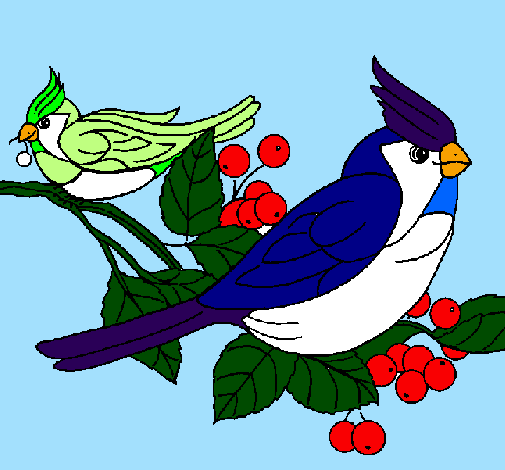 Desenho de Pássaros pintado e colorido por Usuário não registrado ...