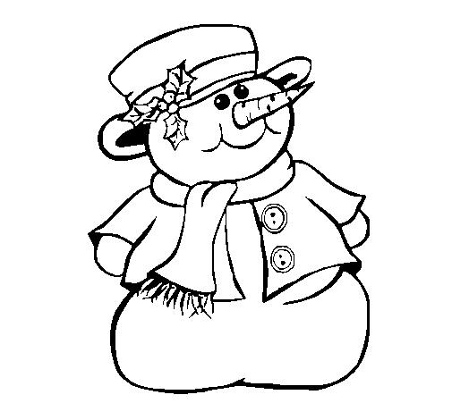 desenho de boneco de neve ii pintado e colorido por usuário não