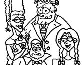 Desenho Família de monstros pintado por adams
