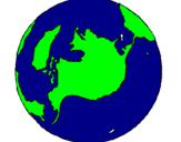 Desenho Planeta terra pintado por felipe