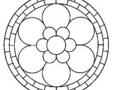Desenho Mandala 2 pintado por melissa