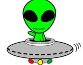 Desenho Alienígena pintado por Frank