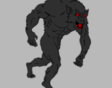 Desenho Homem lobo pintado por s.p.f.c