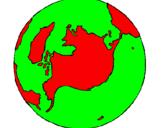 Desenho Planeta terra pintado por amanda