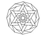 Desenho Mandala 18 pintado por goku