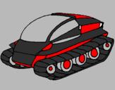 Desenho Nave tanque pintado por s.p.f.c