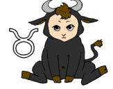 Desenho Taurus pintado por jhon e esse e meu sigino