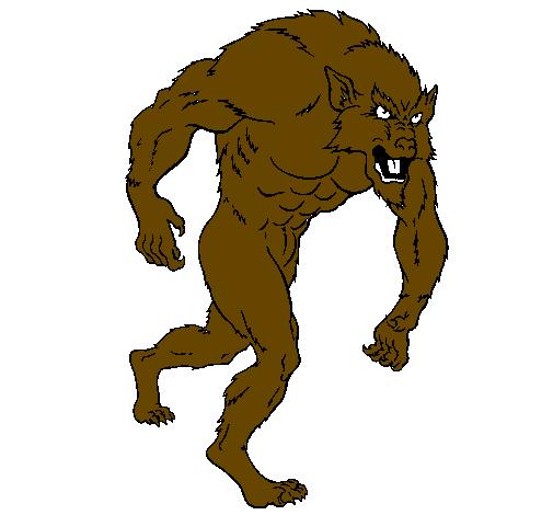 Desenho Homem lobo pintado por LOBISOMEM DE COPA CABANA
