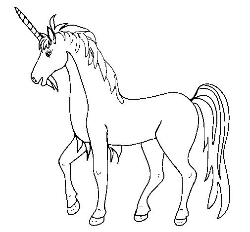 Desenho Unicórnio II pintado por cavalo
