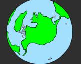 Desenho Planeta terra pintado por geovana