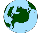 Desenho Planeta terra pintado por Kimberlly
