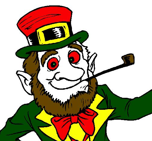 desenho de duende pintado e colorido por usuário não registrado o