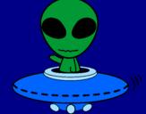 Desenho Alienígena pintado por Sarah