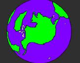 Desenho Planeta terra pintado por eduardo