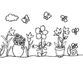 Desenho Jardim pintado por joao