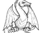 Desenho Dragão  pintado por por pintar