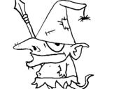 Desenho Gnomo com chapéu pintado por xixi