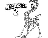 Desenho Madagascar 2 Melman pintado por Gui