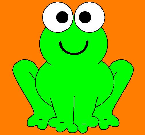 desenho de rã sorridente pintado e colorido por usuário não