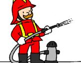 Desenho Bombeiro pintado por bombeiro