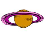 Desenho Saturno pintado por sartuno